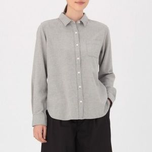 ISO! WOMEN ORGANIC FLANNEL SHIRT GRAY XS